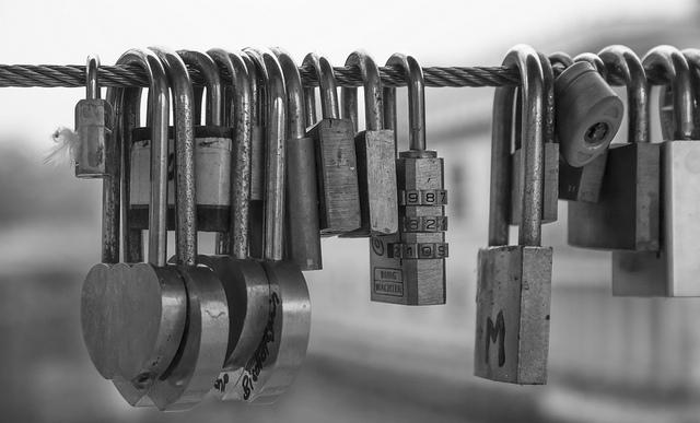 locks-hanging